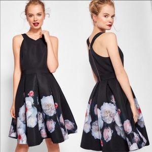 NWT Ted baker black floral Jelina dress size 1